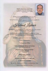 Parte Helmut Lechner Archiv Trauerfälle Bestattung Schweighofer