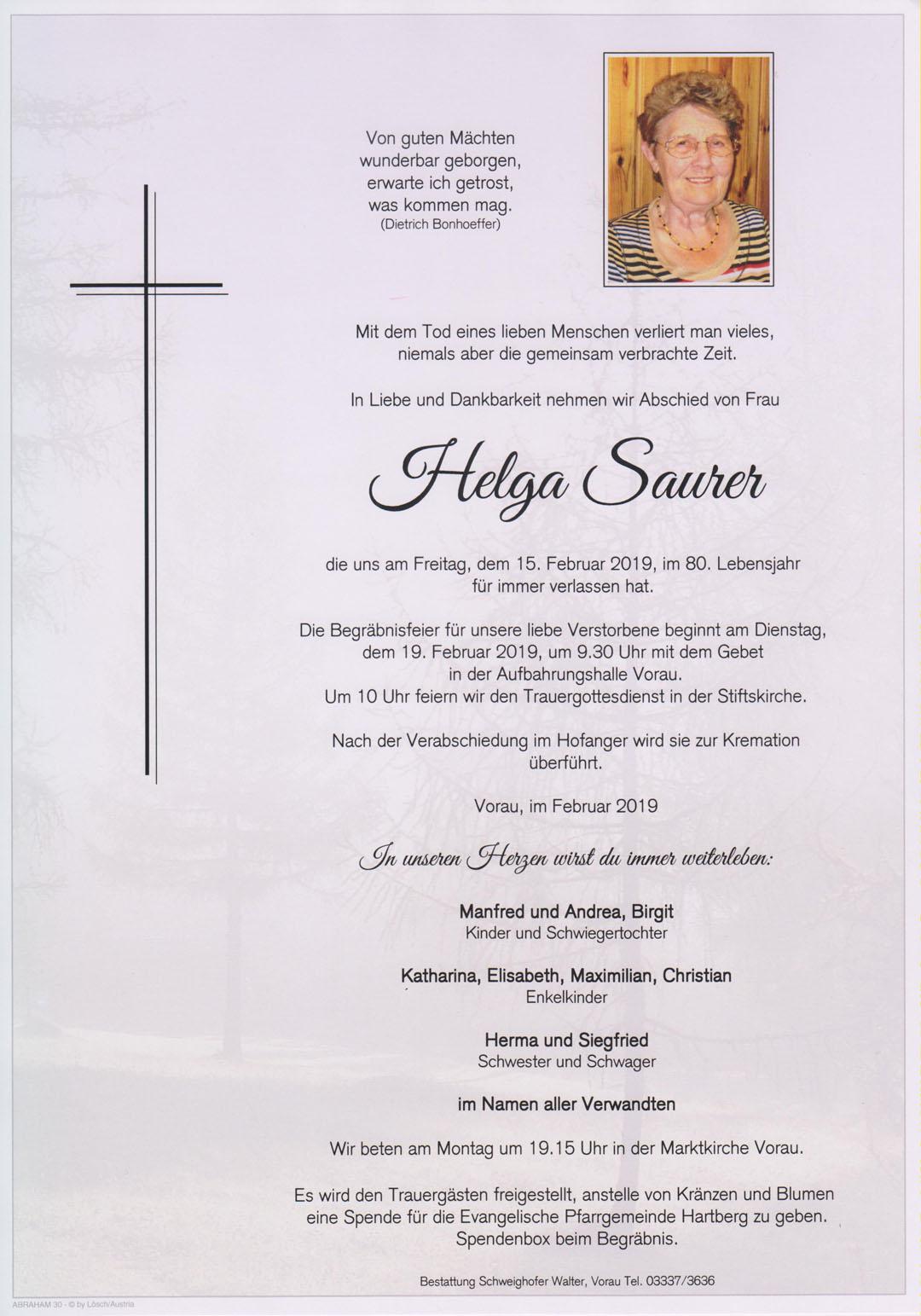Helga Saurer