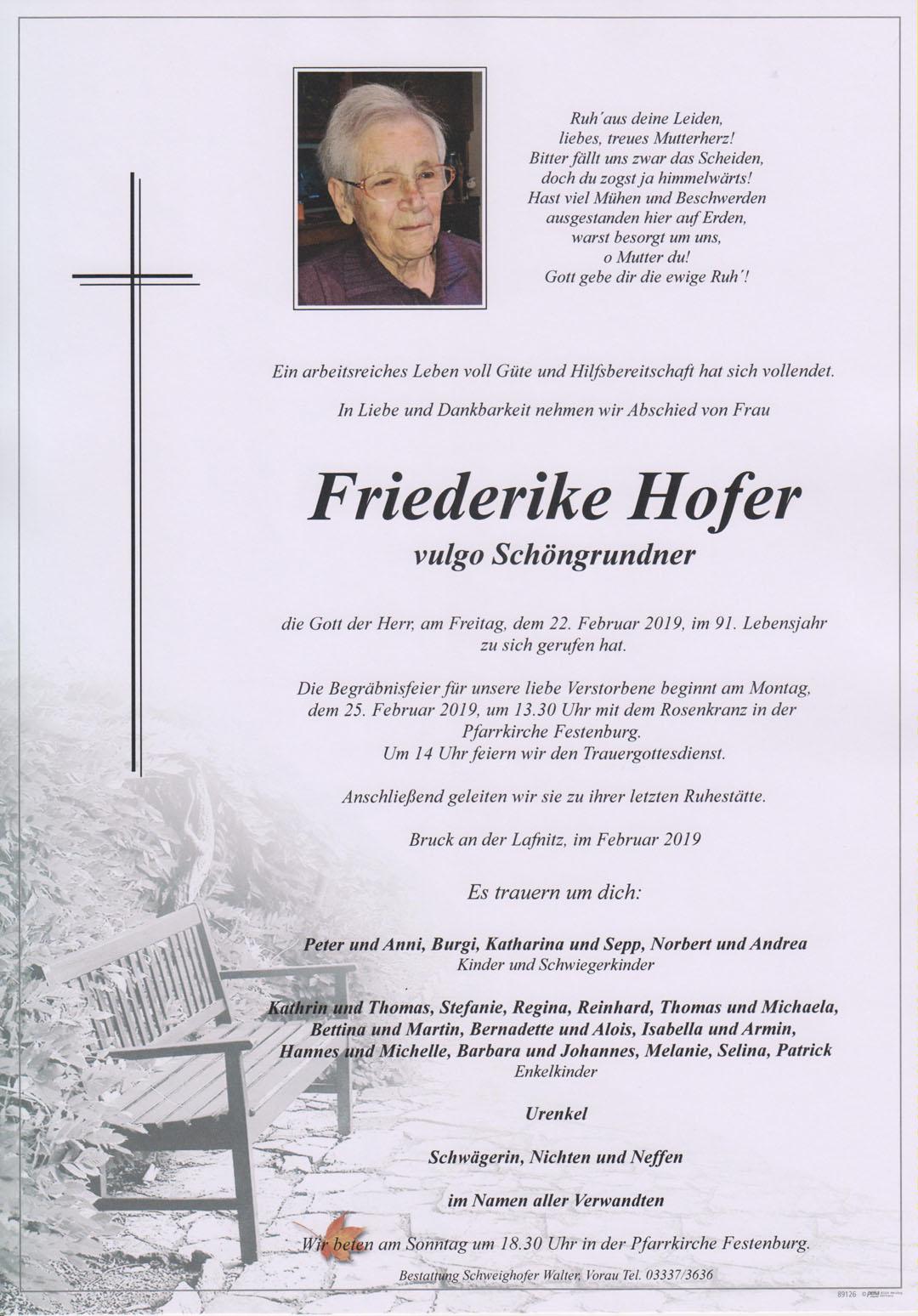 Friederike Hofer