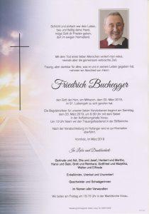 Parte Friedrich Buchegger Archiv Trauerfälle Bestattung Schweighofer