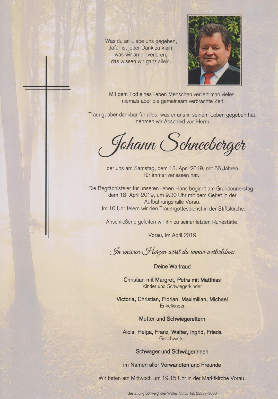 Johann Schneeberger