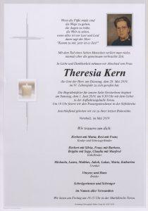Parte Theresia Kern Archiv Trauerfälle Bestattung Schweighofer