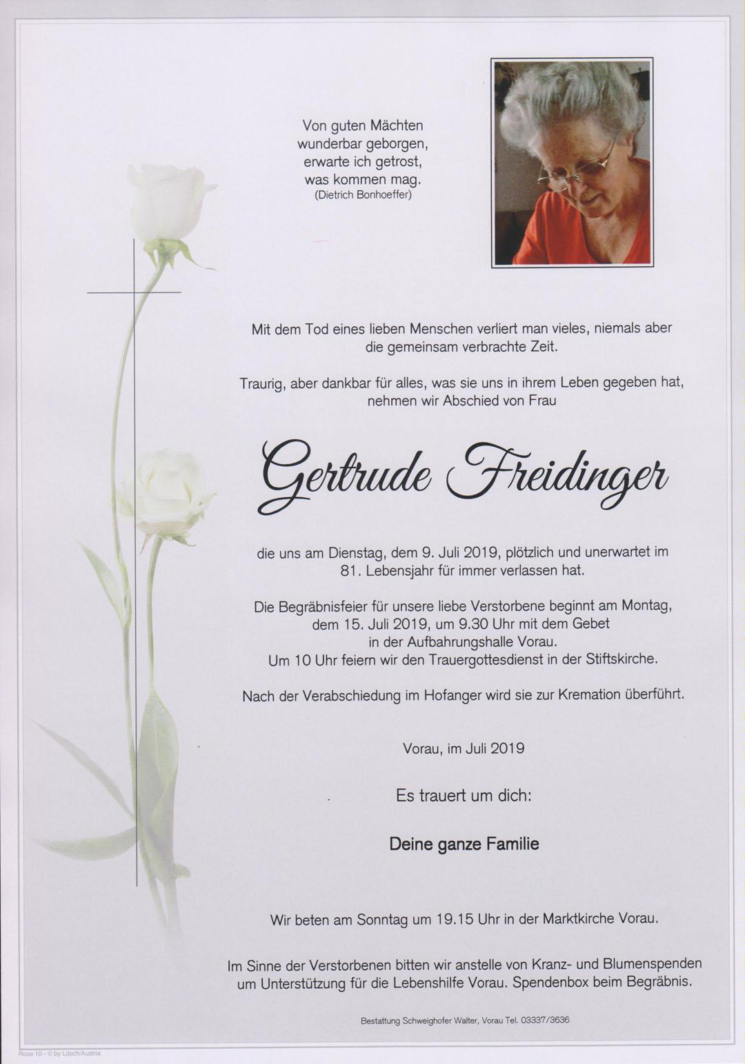 Gertrude Freidinger