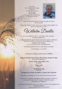 Parte Wilhelm Devilla Archiv Trauerfälle Bestattung Schweighofer
