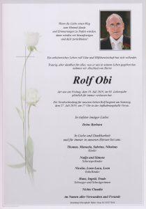 Parte Rolf Obi Archiv Trauerfälle Bestattung Schweighofer