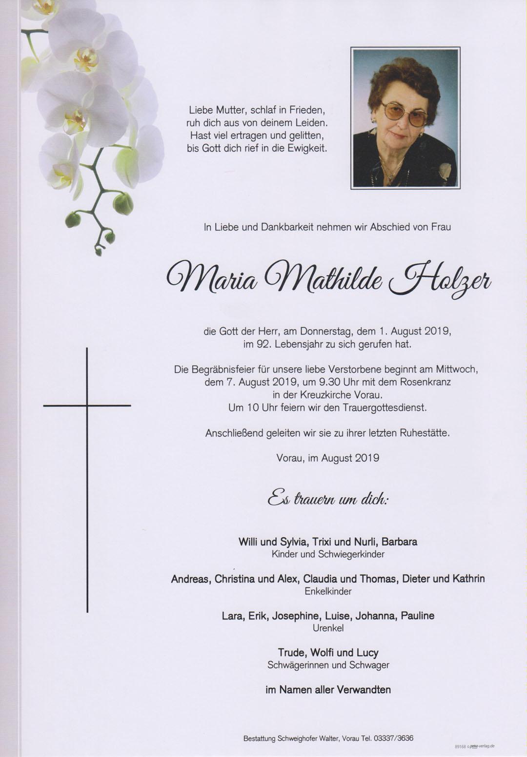 Maria Mathilde Holzer