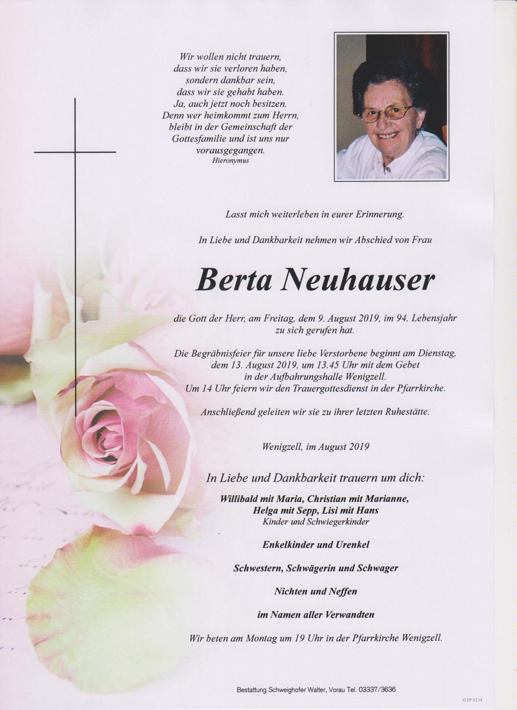 Berta Neuhauser