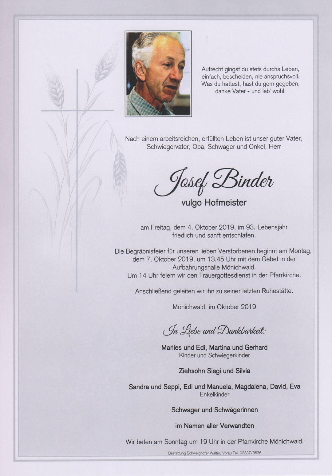Josef Binder
