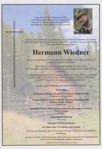 Parte Hermann Wiedner Archiv Trauerfälle Bestattung Schweighofer