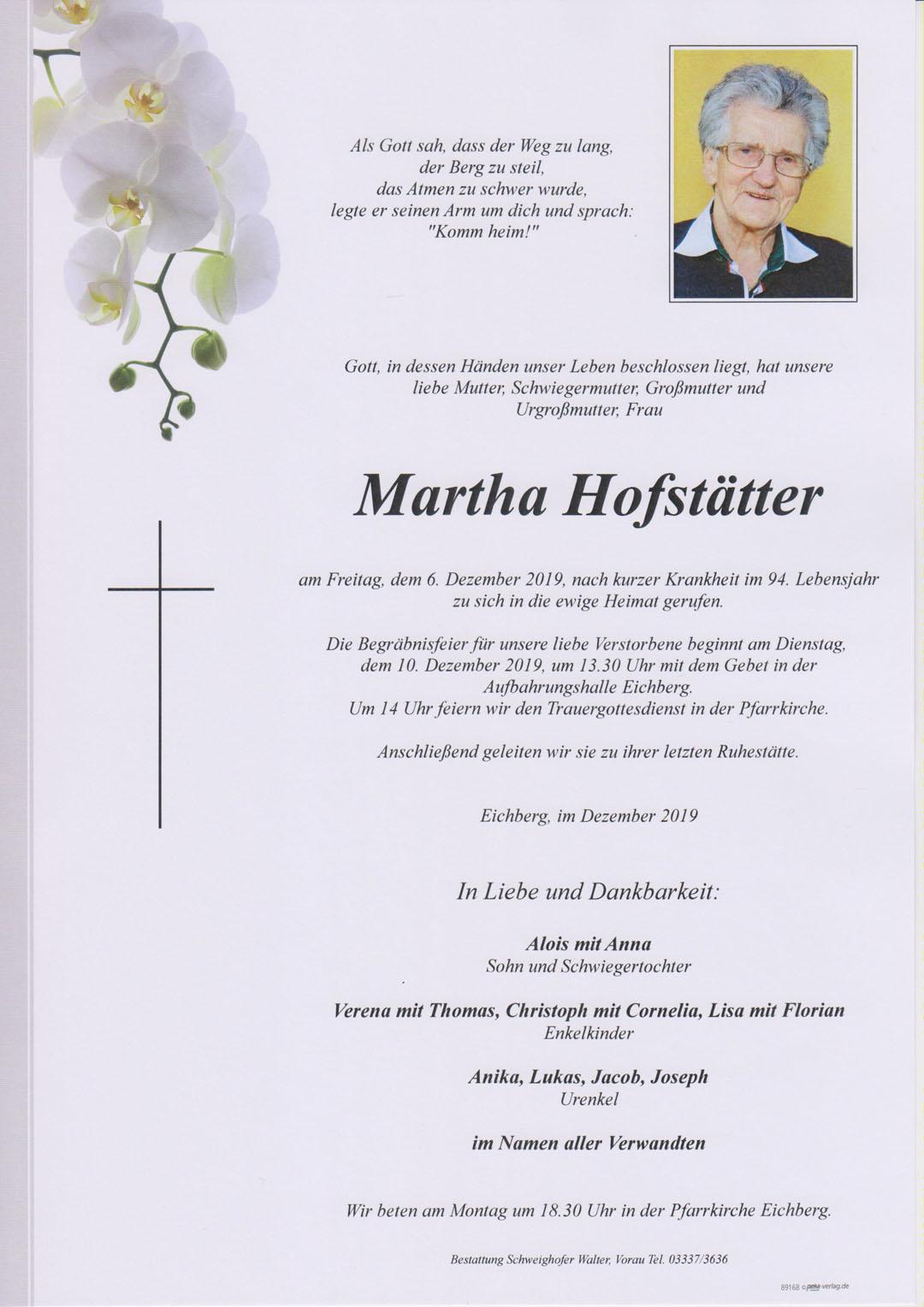 Martha Hofstätter