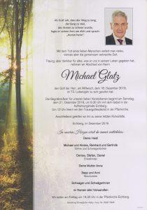 Parte Michael Glatz Archiv Trauerfälle Bestattung Schweighofer