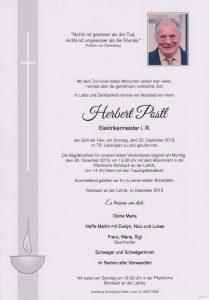 Parte Herbert Postl Archiv Trauerfälle Bestattung Schweighofer