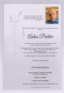Parte Anton Pichler Archiv Trauerfälle Bestattung Schweighofer