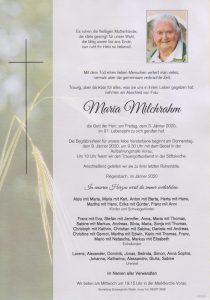 Parte Maria Milchrahm Archiv Trauerfälle Bestattung Schweighofer