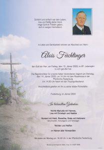 Parte Feichtinger Alois Archiv Trauerfälle Bestattung Schweighofer