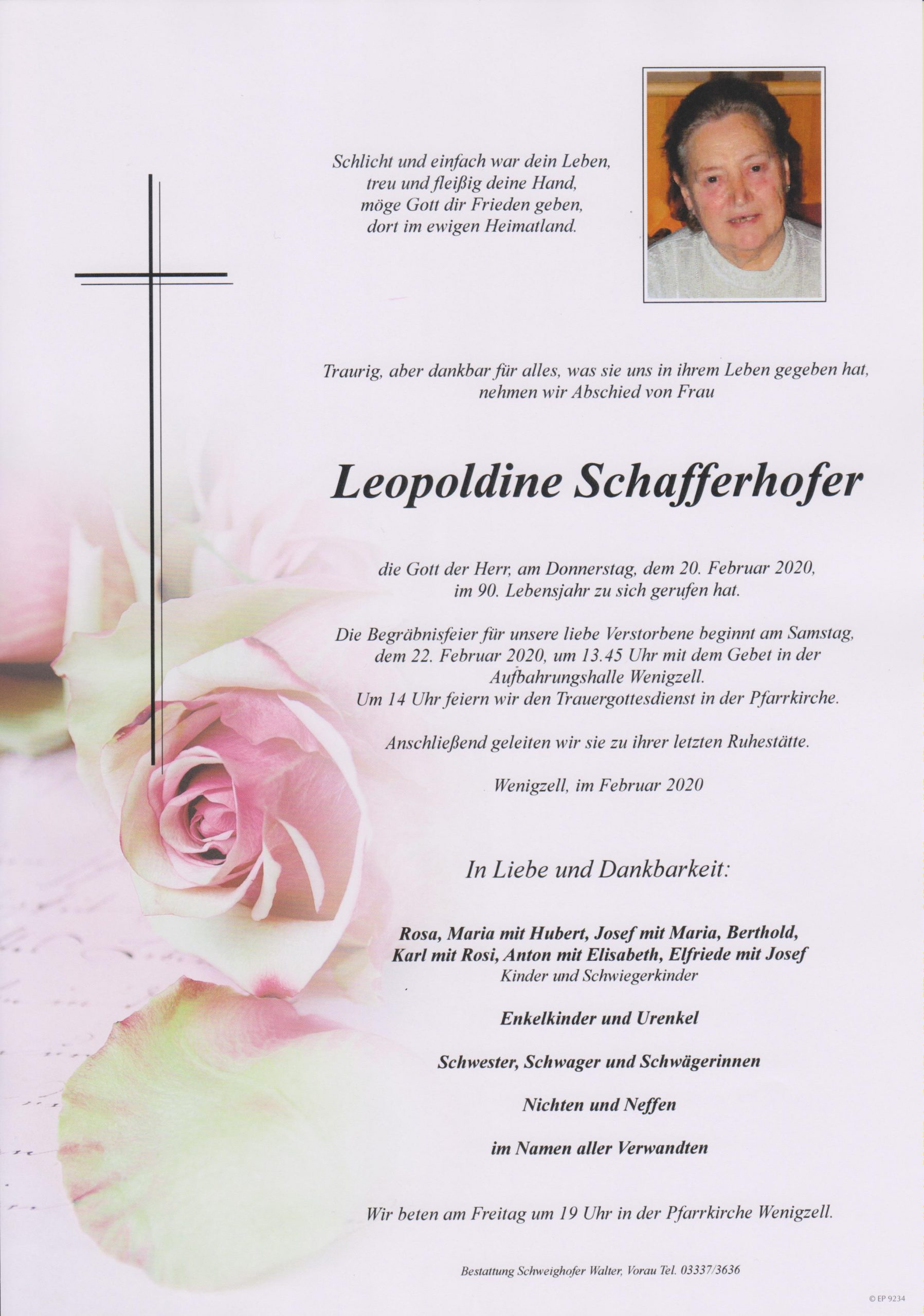 Leopoldine Schafferhofer
