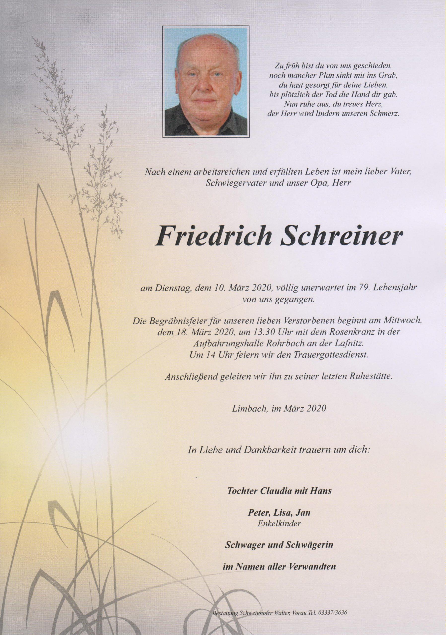 Friedrich Schreiner