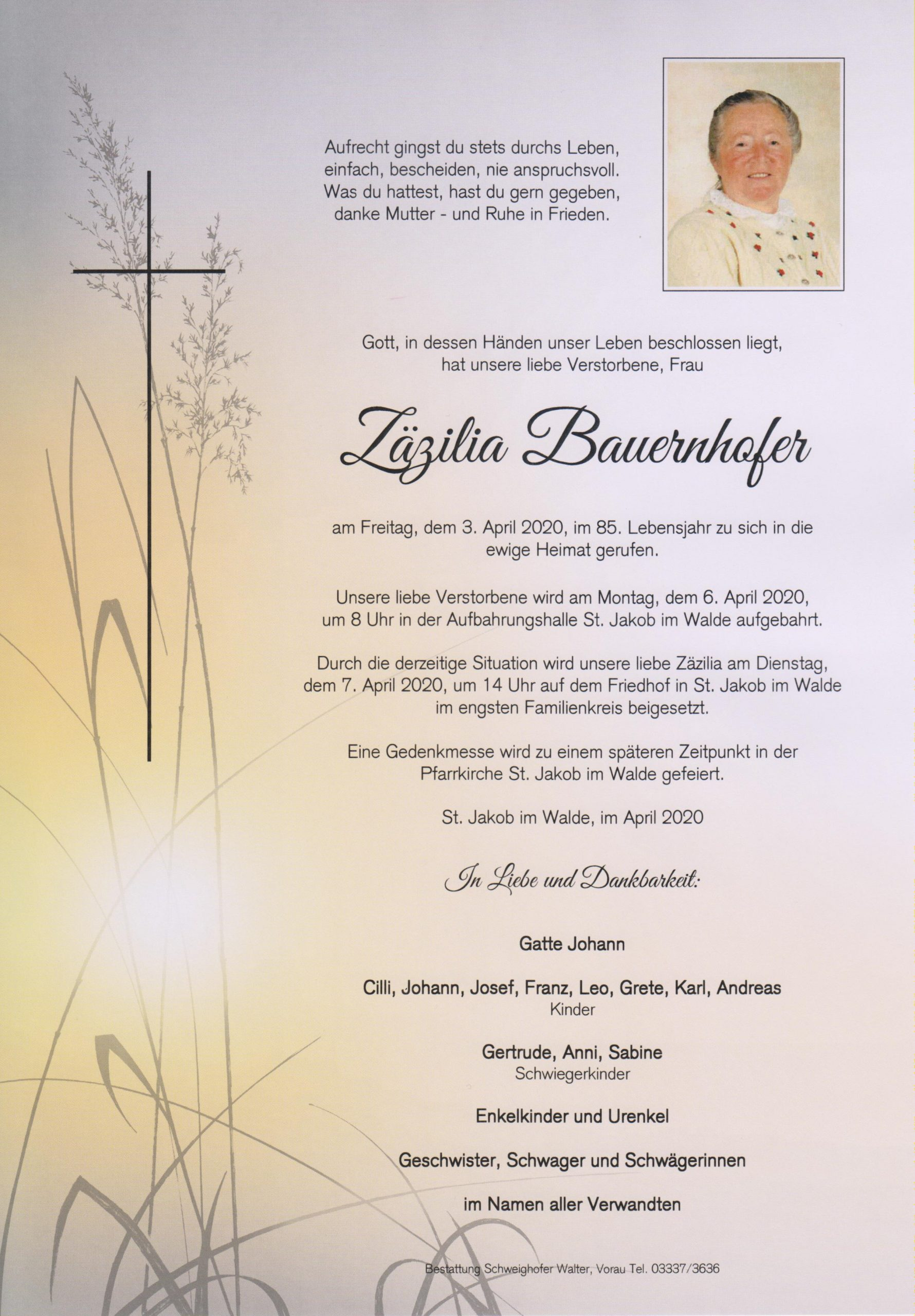 Zäzilia Bauernhofer
