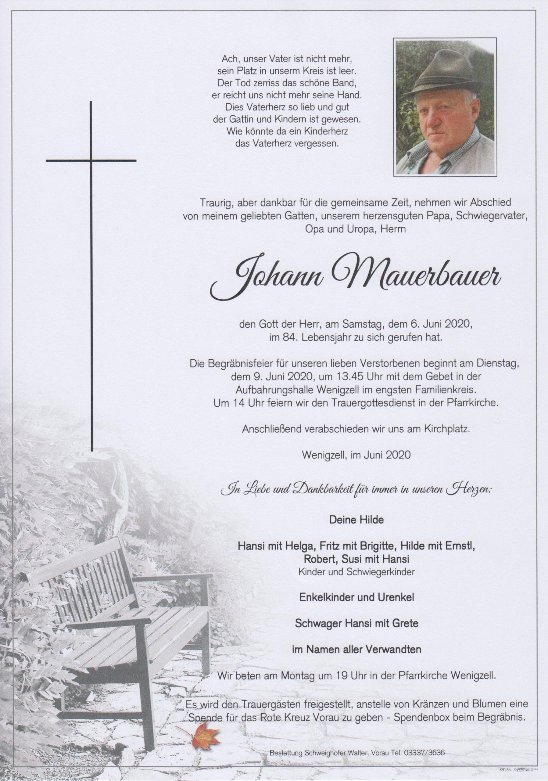 Johann Mauerbauer