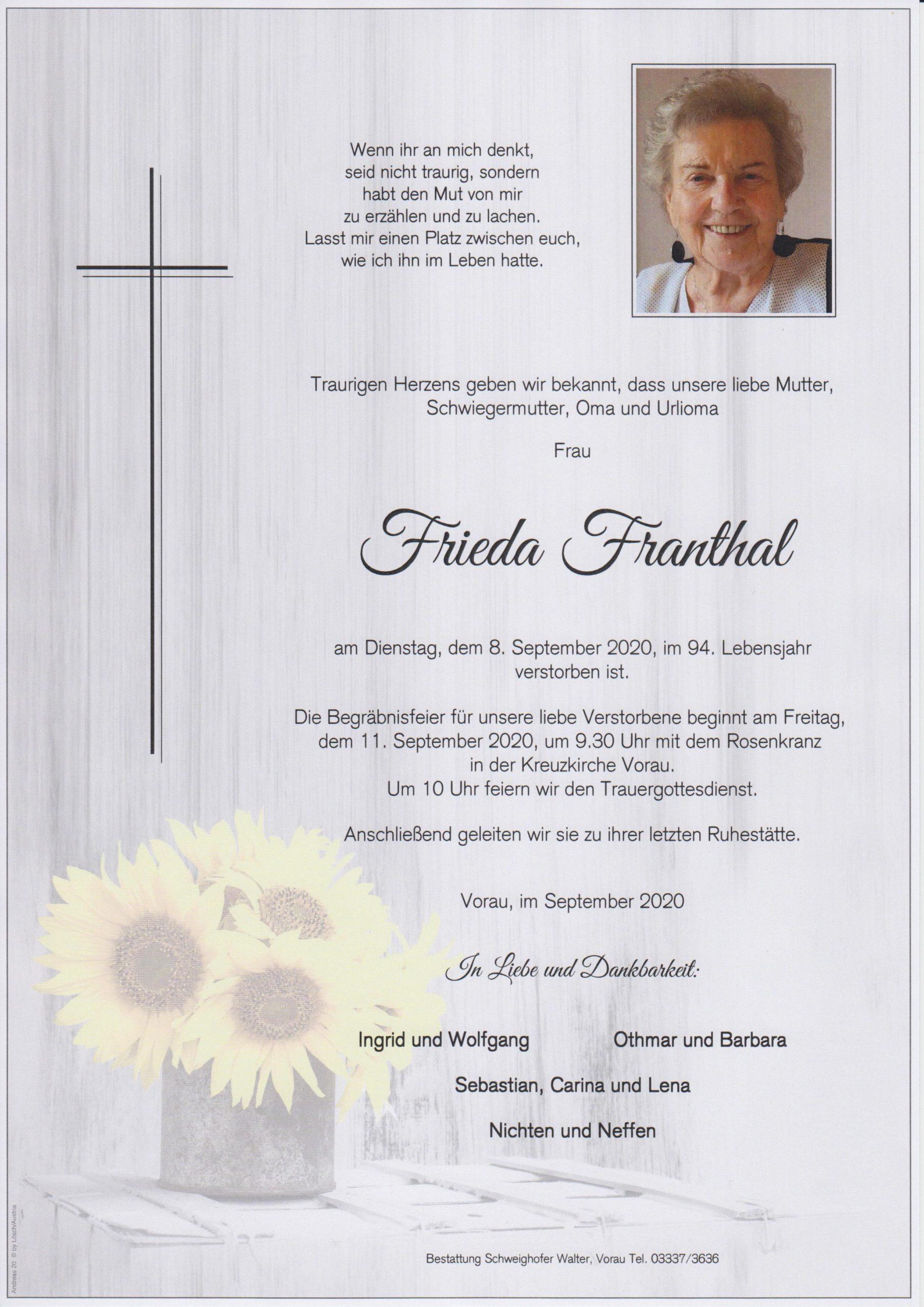 Frieda Franthal