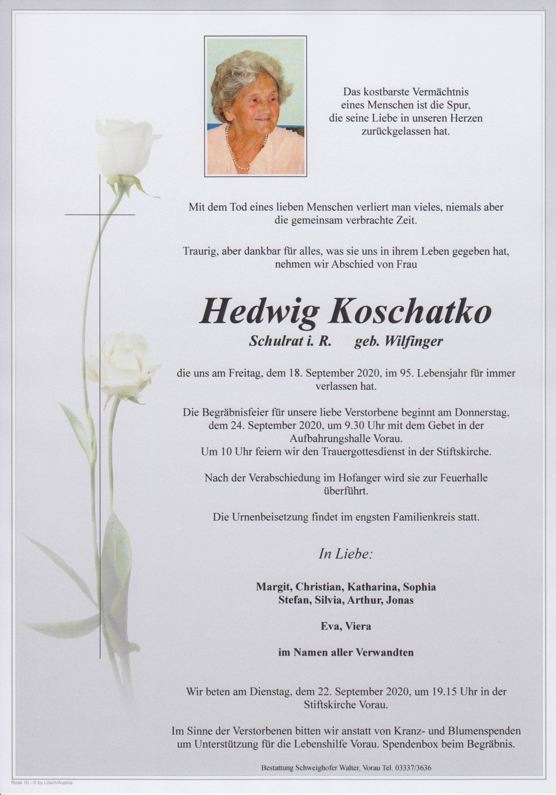 You are currently viewing Hedwig Koschatko