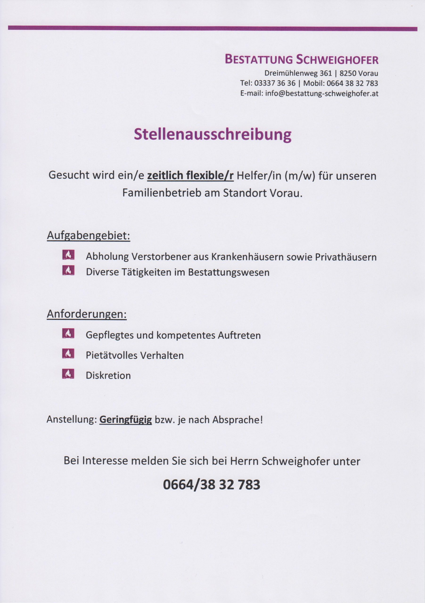 You are currently viewing Stellenausschreibung