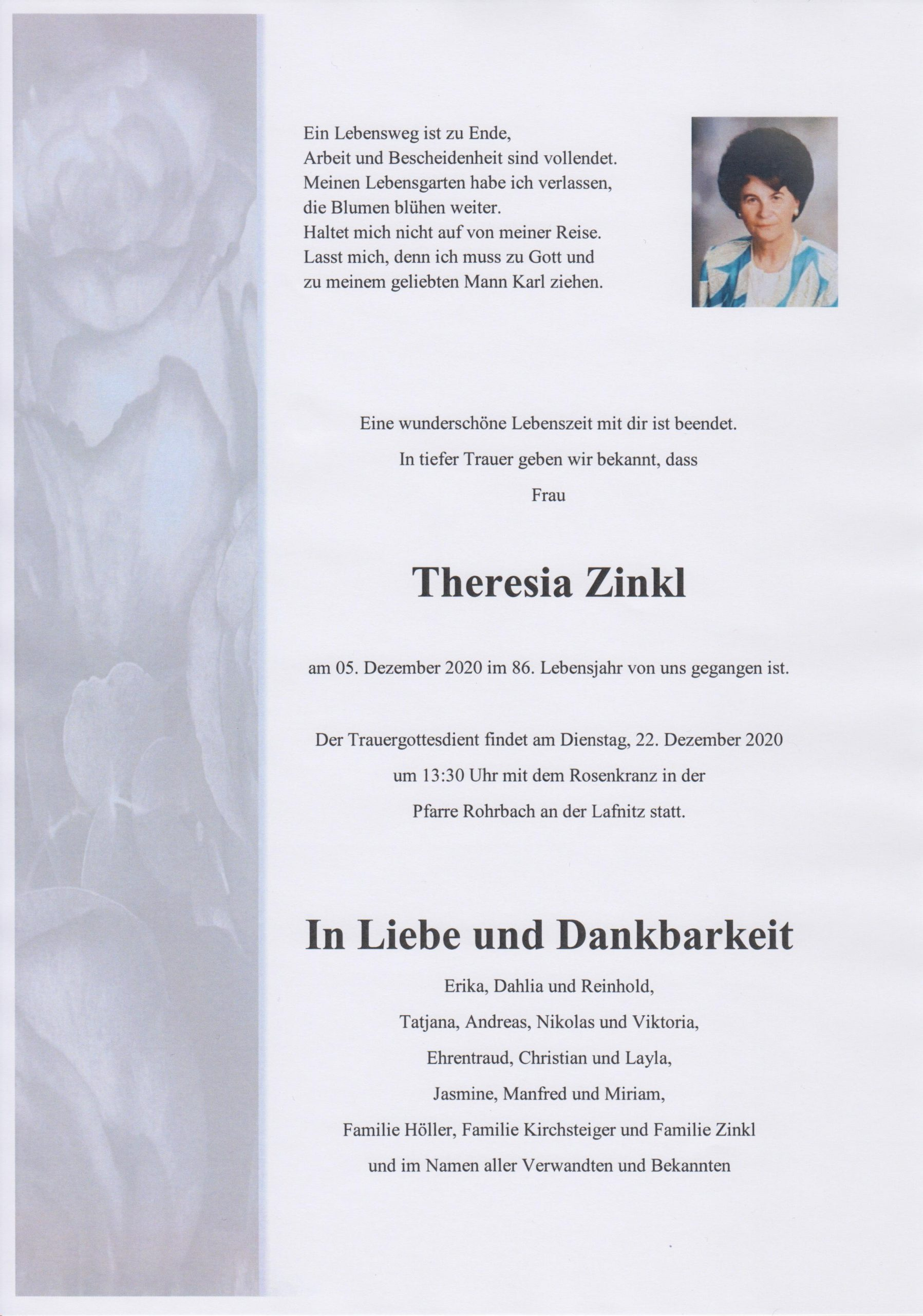 You are currently viewing Theresia Zinkl