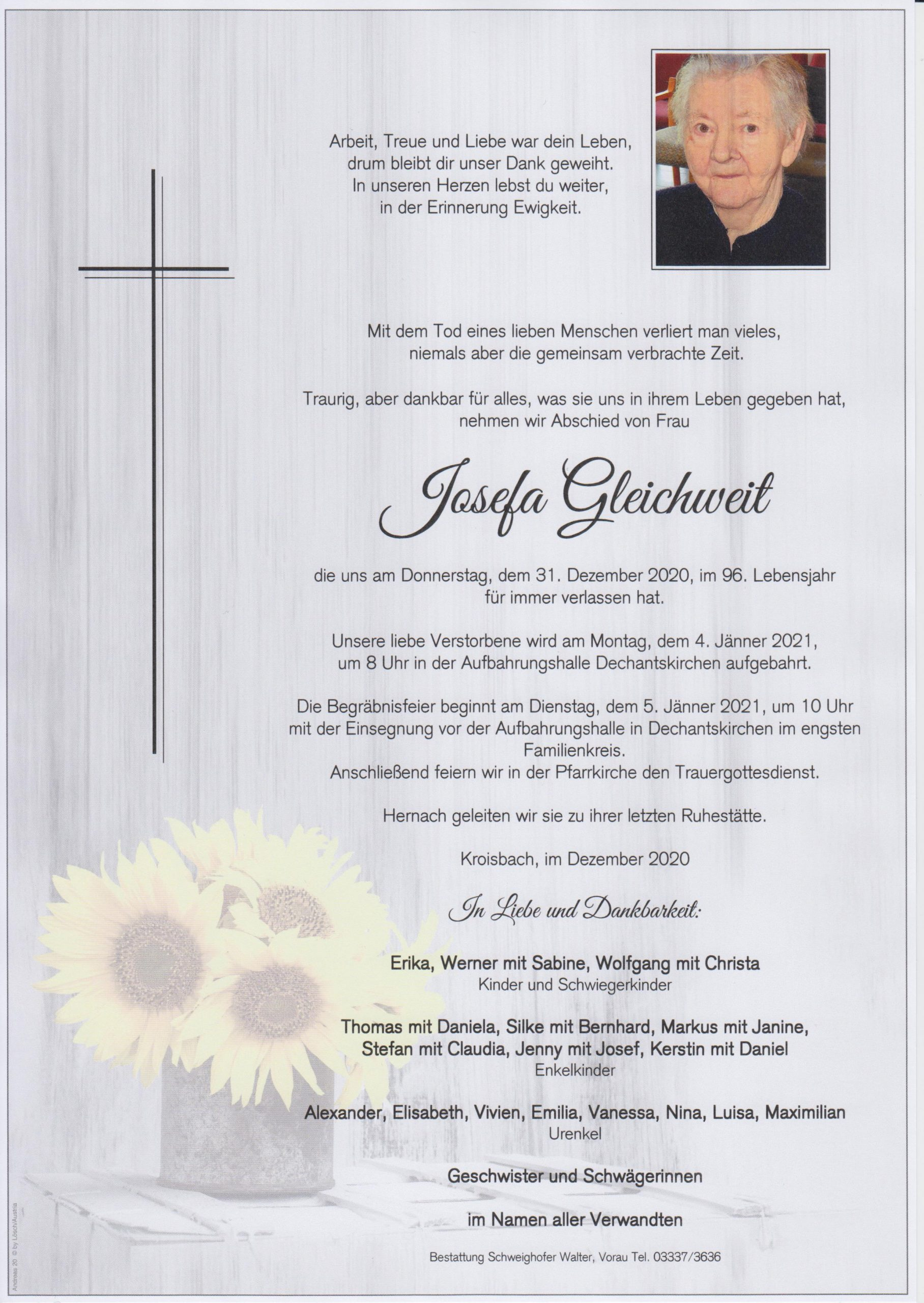 You are currently viewing Josefa Gleichweit