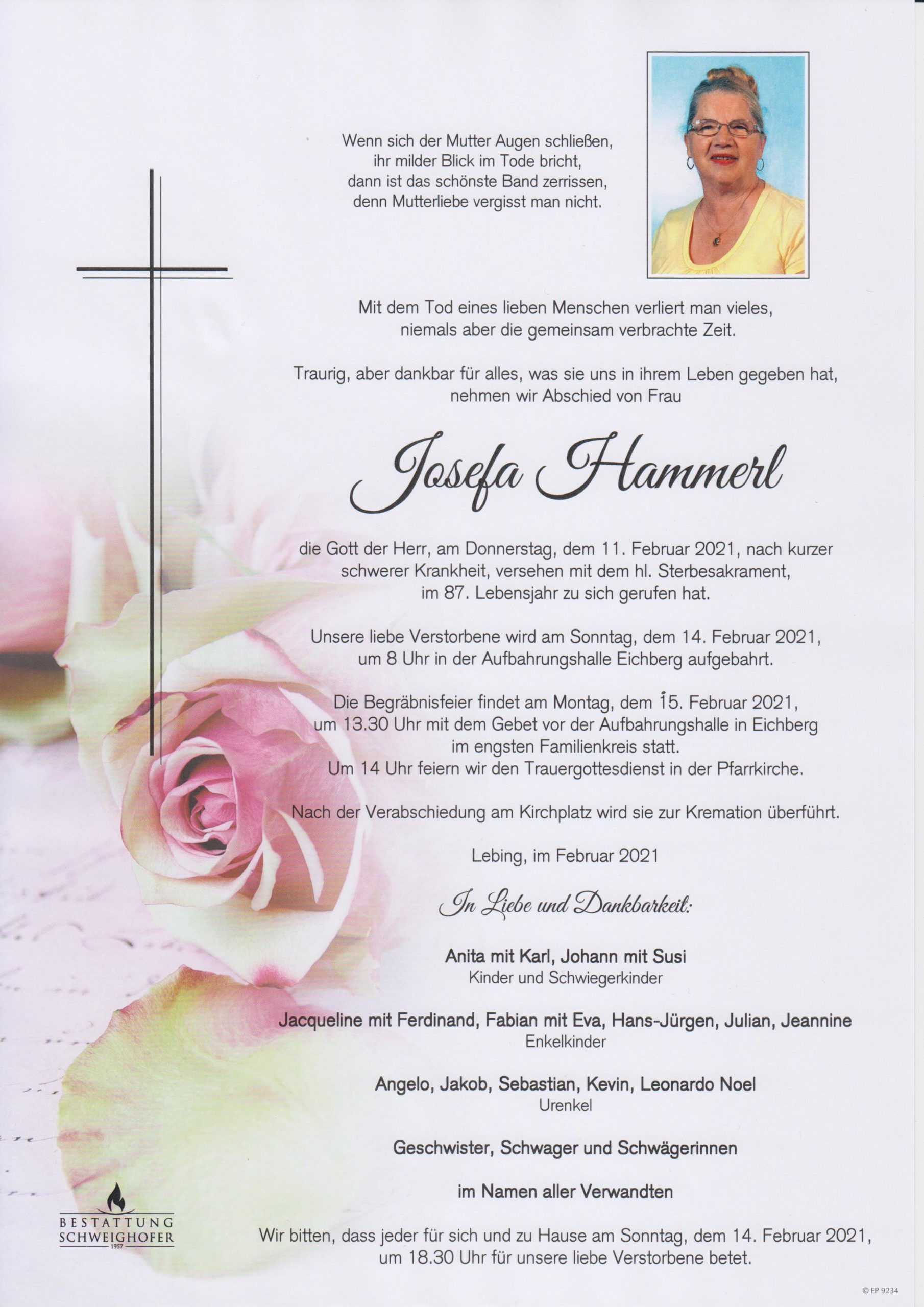 You are currently viewing Josefa Hammerl