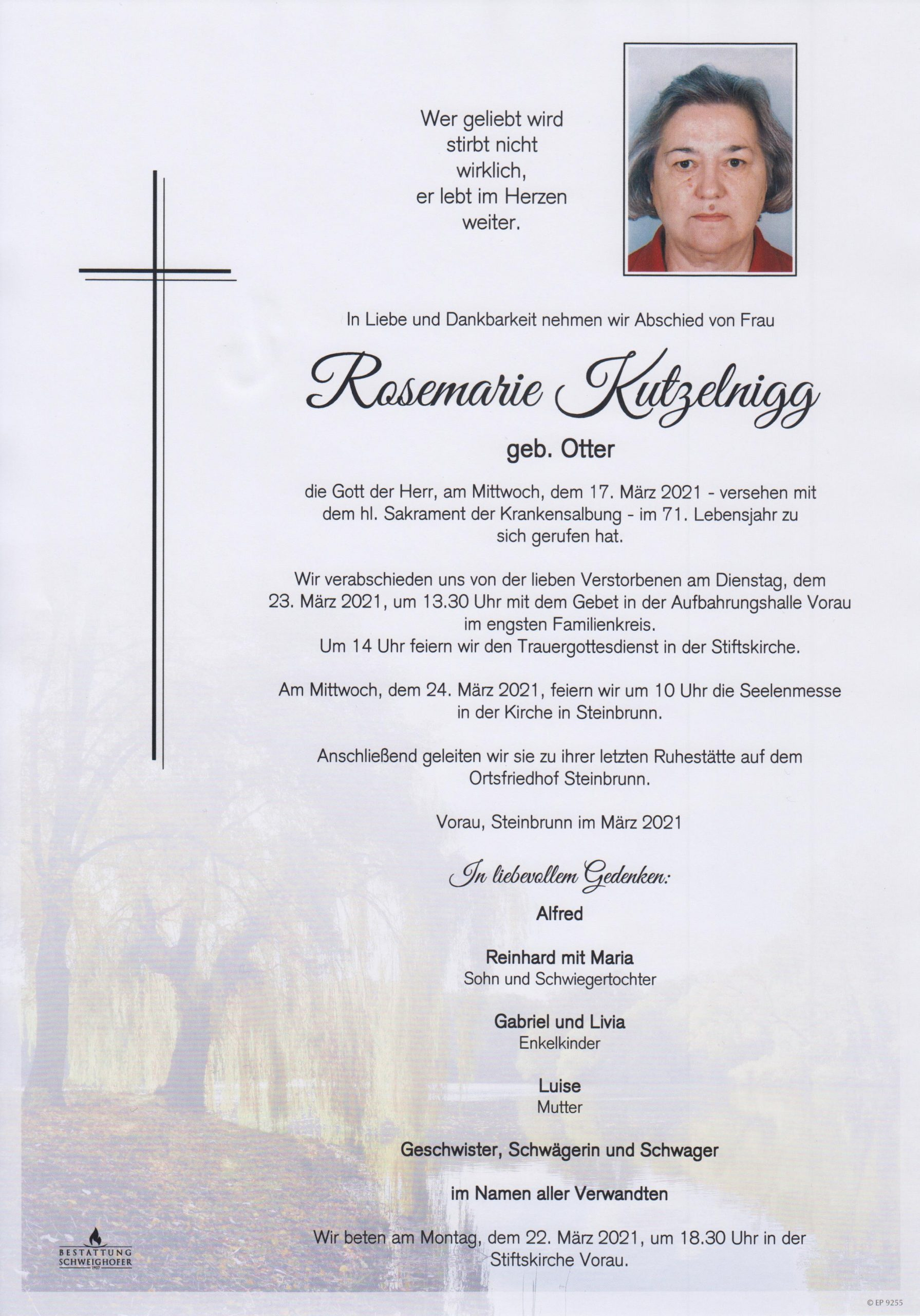 You are currently viewing Rosemarie Kutzelnigg