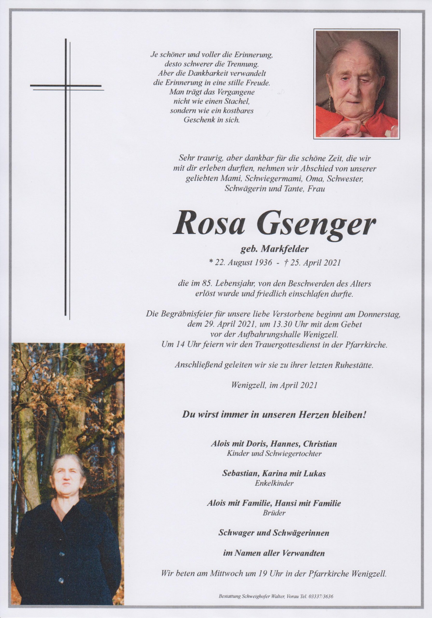 You are currently viewing Rosa Gsenger