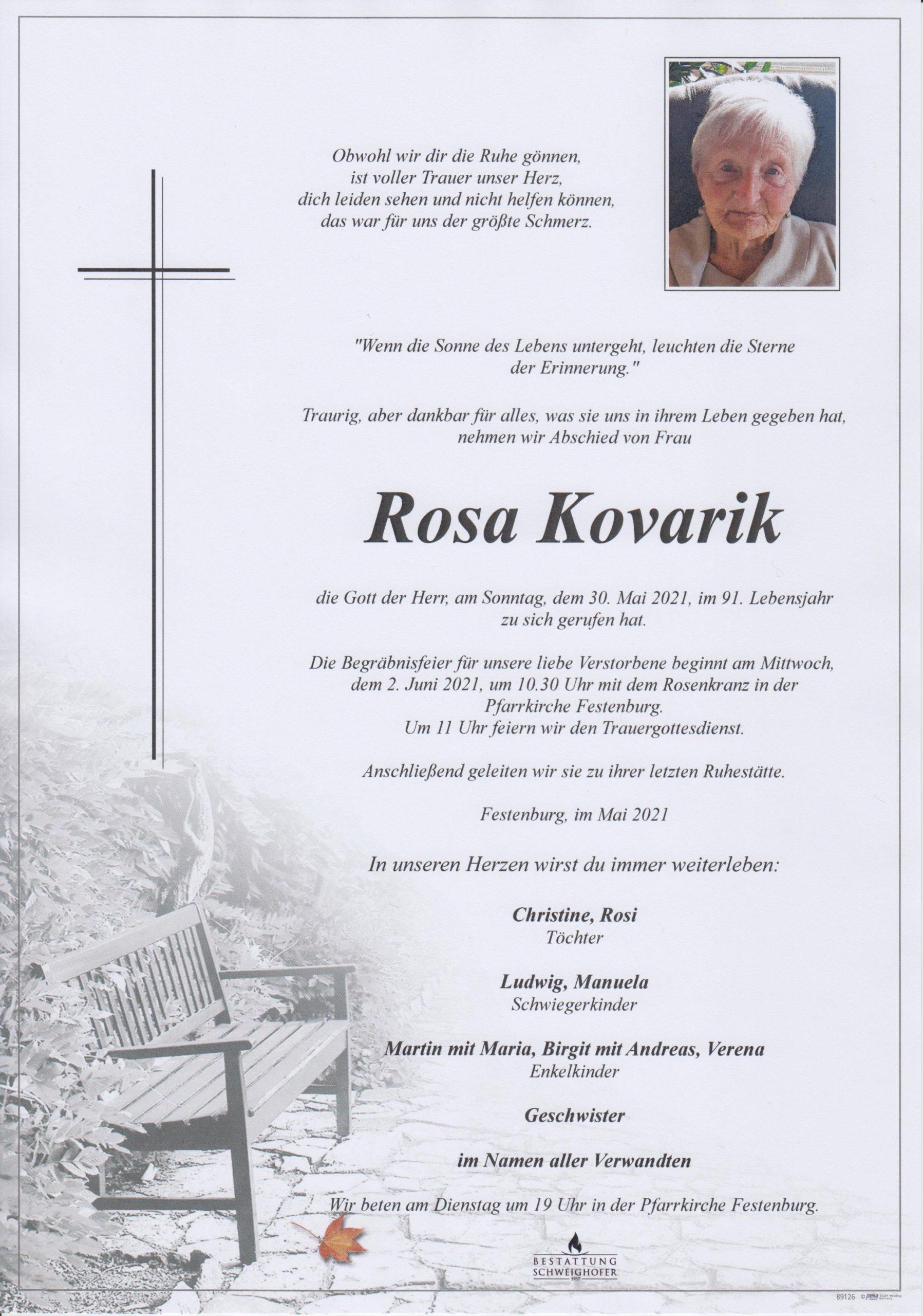 Rosa Kovarik