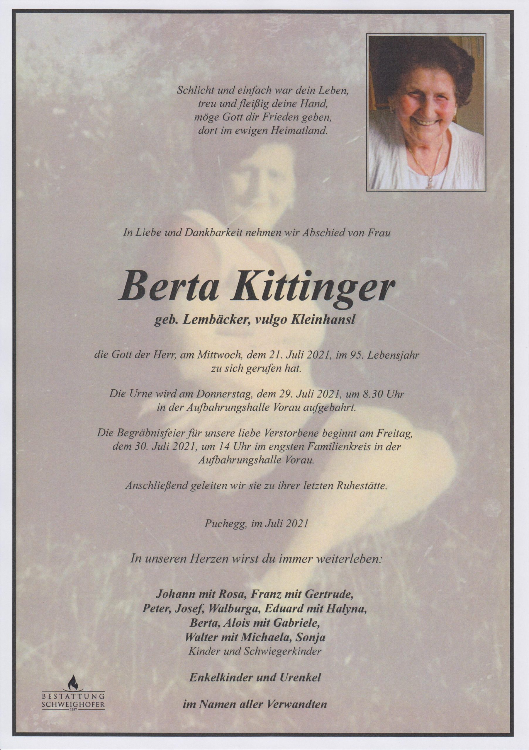 You are currently viewing Berta Kittinger