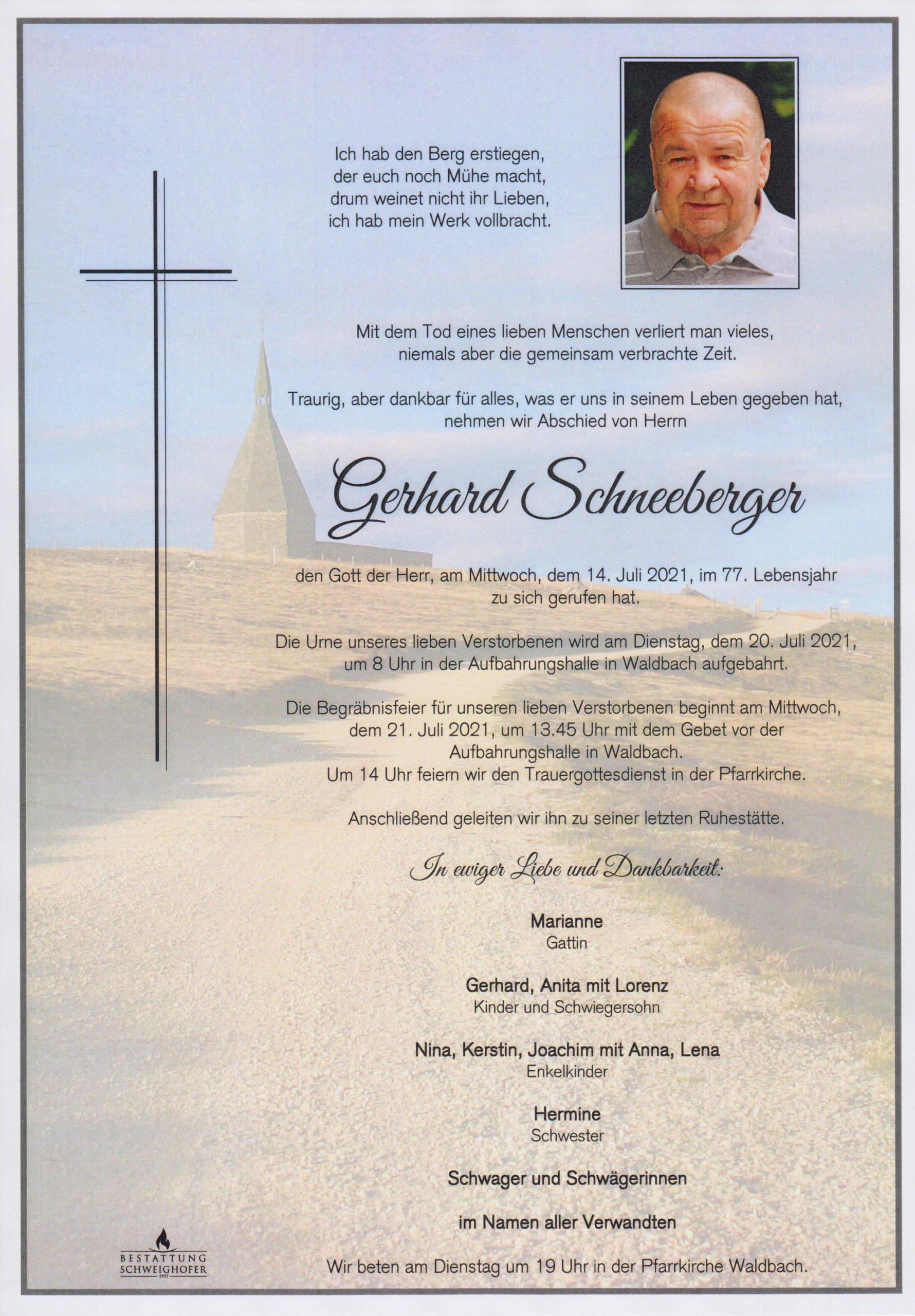 You are currently viewing Gerhard Schneeberger