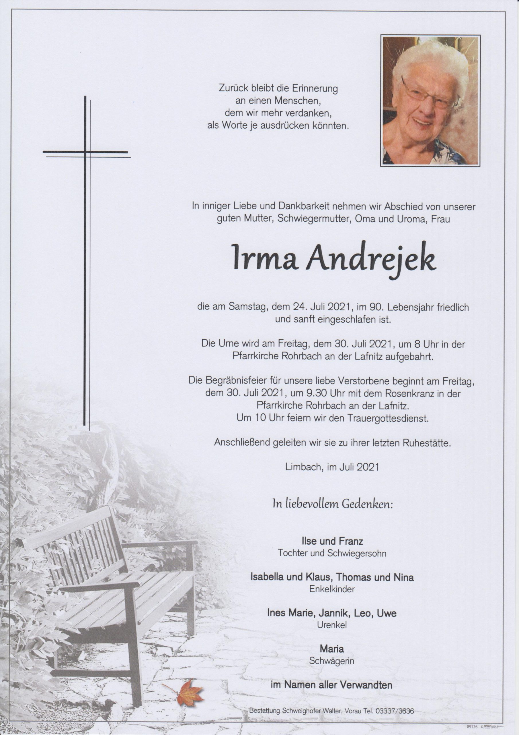 You are currently viewing Irma Andrejek