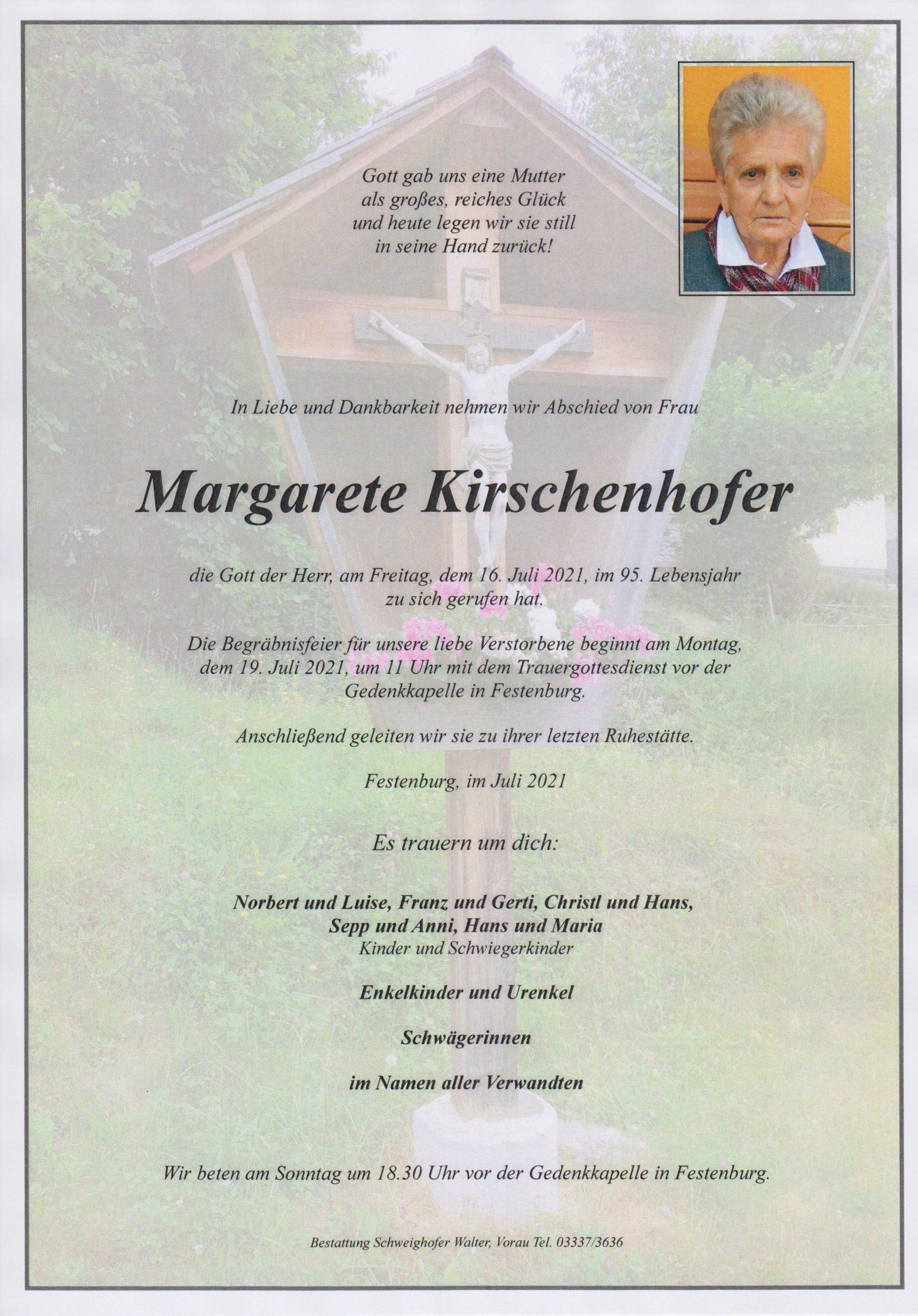 You are currently viewing Margarete Kirschenhofer