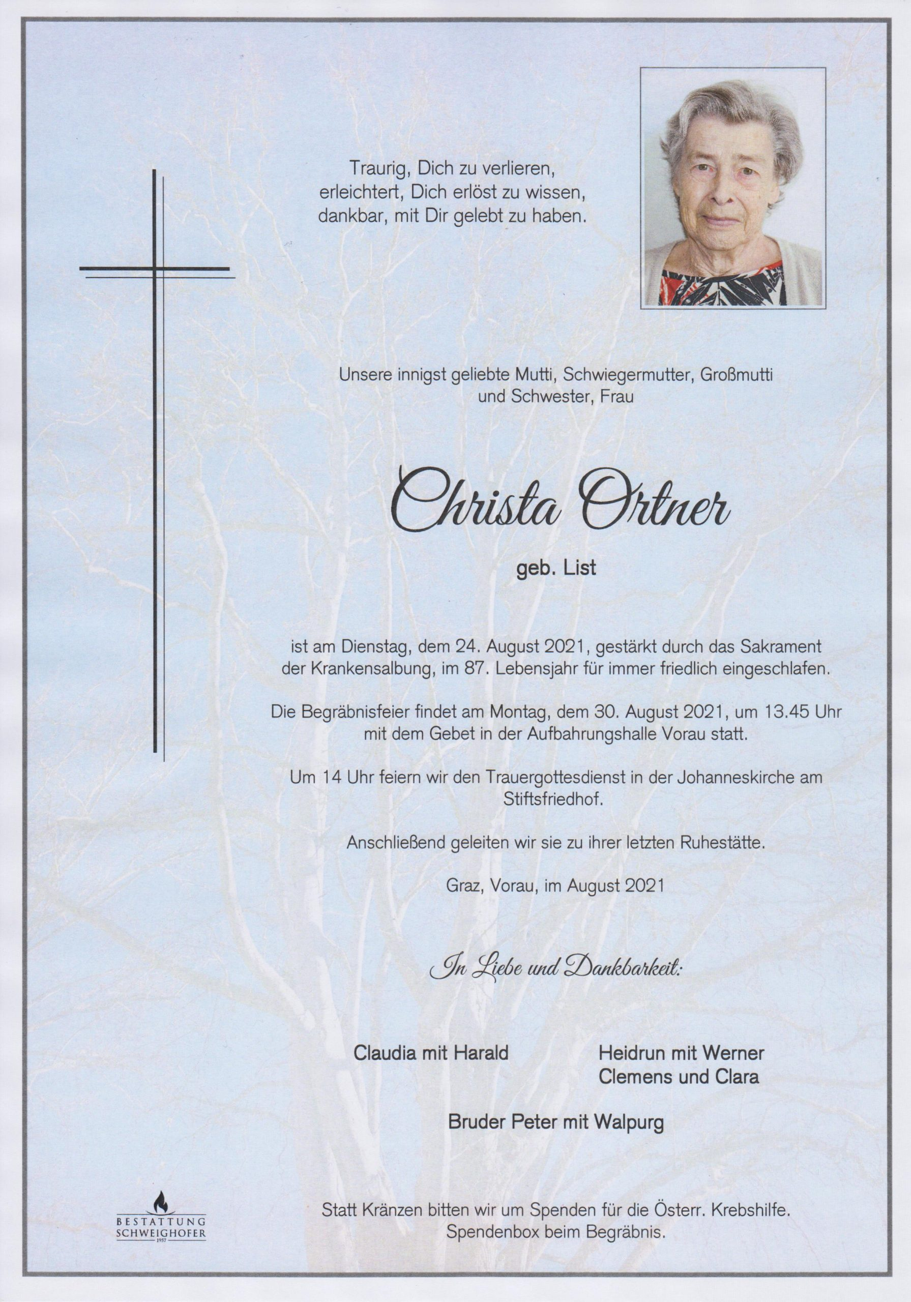 You are currently viewing Christa Ortner