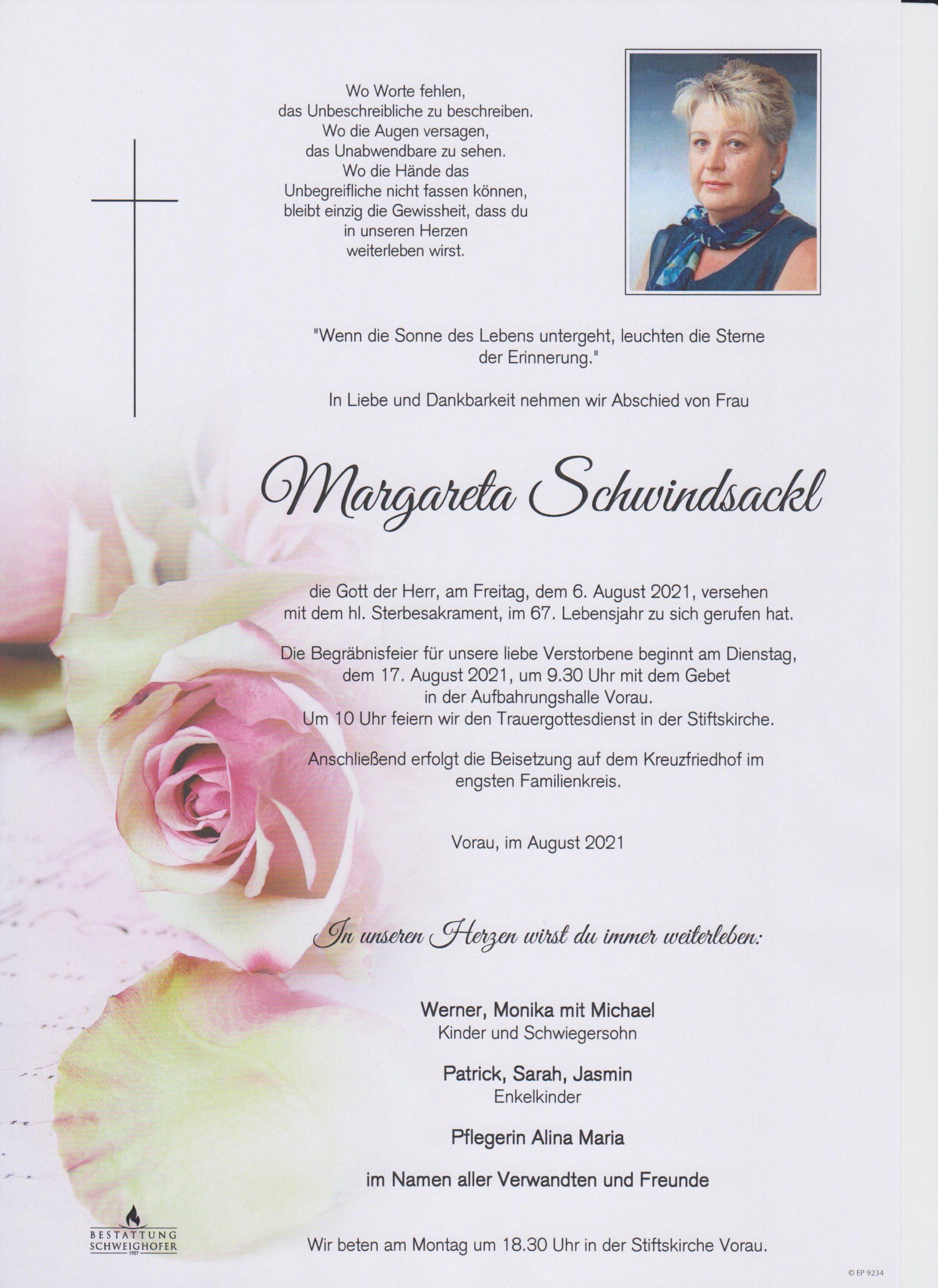 You are currently viewing Margareta Schwindsackl