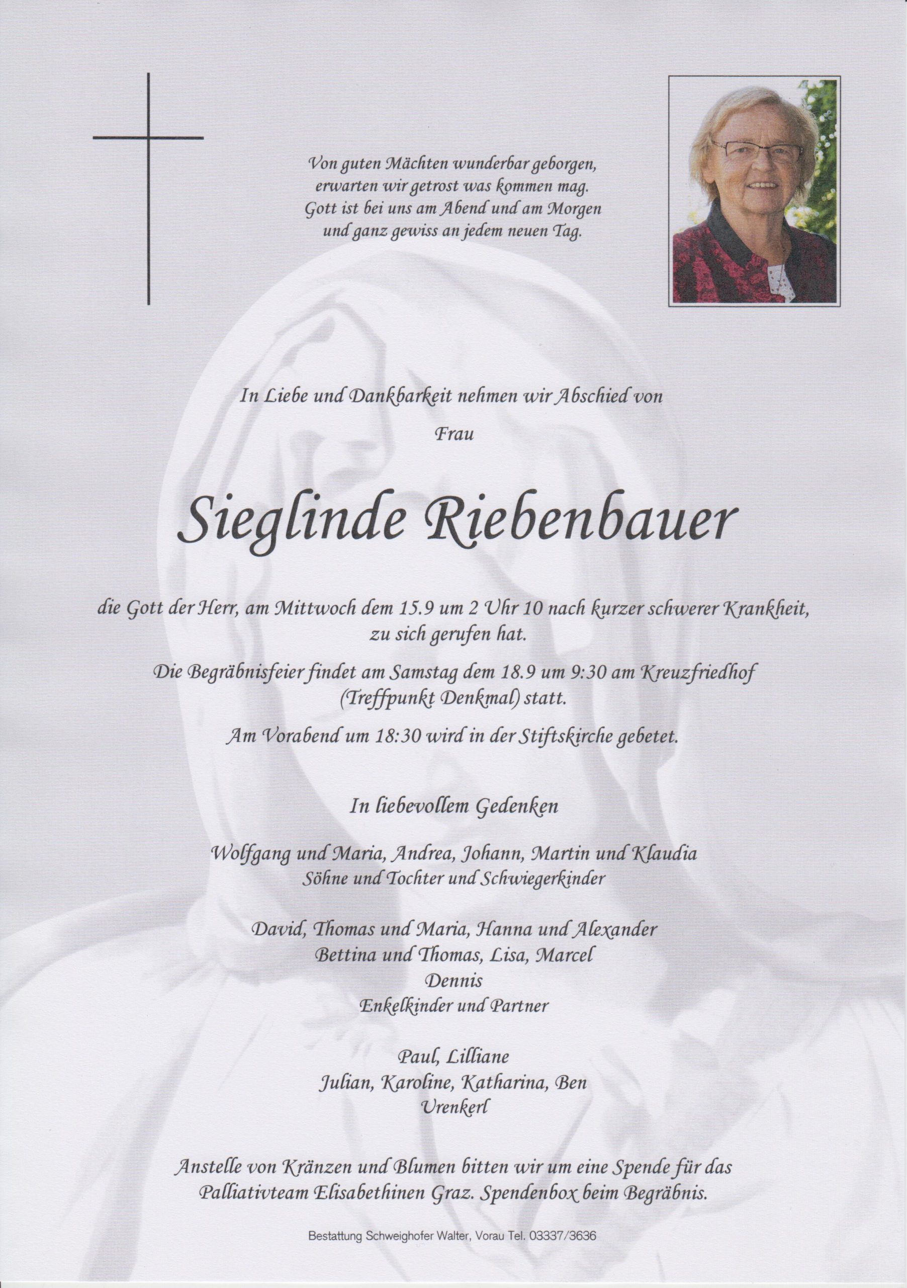 You are currently viewing Sieglinde Riebenbauer